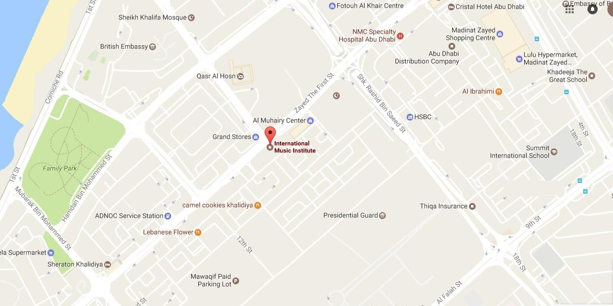 google map for Musicart Institute