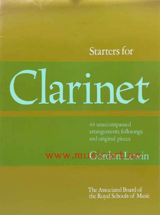 Picture of 'Starters for Clarinet: Forty-Four Unaccompanied Arrangements, Folk Songs and Original Pieces'