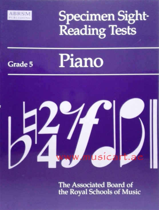 Specimen Sight-reading Tests: Grade 5: Piano