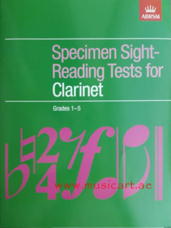Picture of 'Specimen Sight-Reading Tests for Clarinet. Grades 1-5'