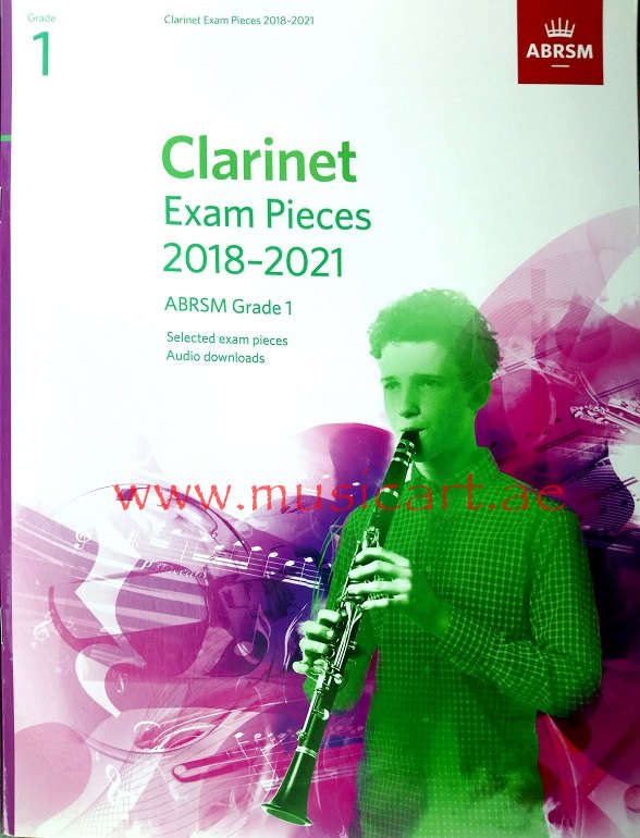 Picture of 'Clarinet Exam Pieces 2018–2021, ABRSM Grade 1'