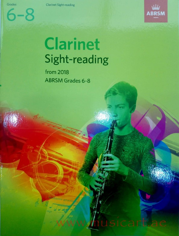 Picture of 'Clarinet Sight-Reading Tests, from 2018 ABRSM Grades 6–8 '