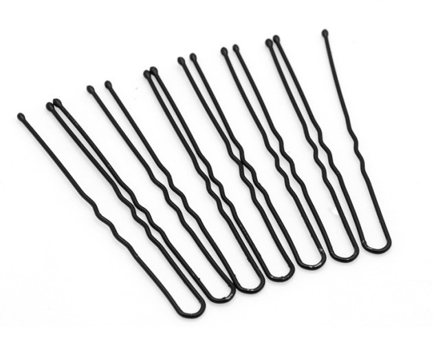 Picture of '10 Pcs Black U-Pins for Hair'