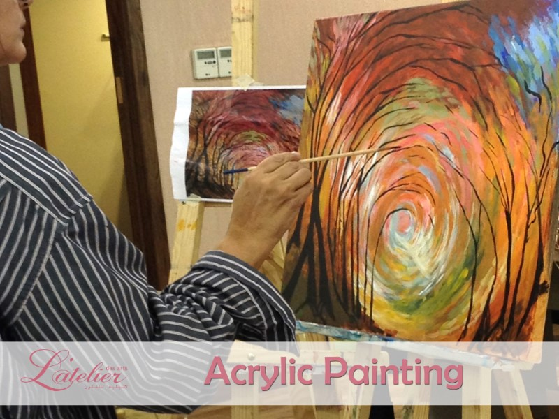 Acrylic Painting Lessons for Adults Sunday Class A 10:30-12:30