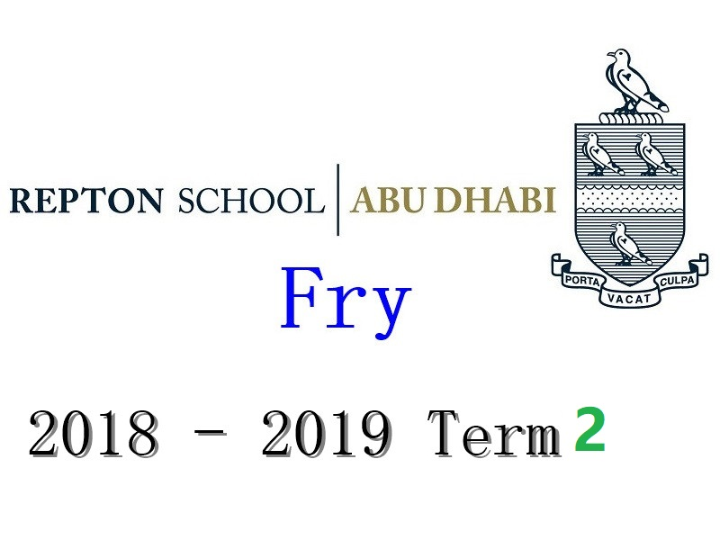 Repton Fry Individual Piano Lesson 2018-2019 Term2