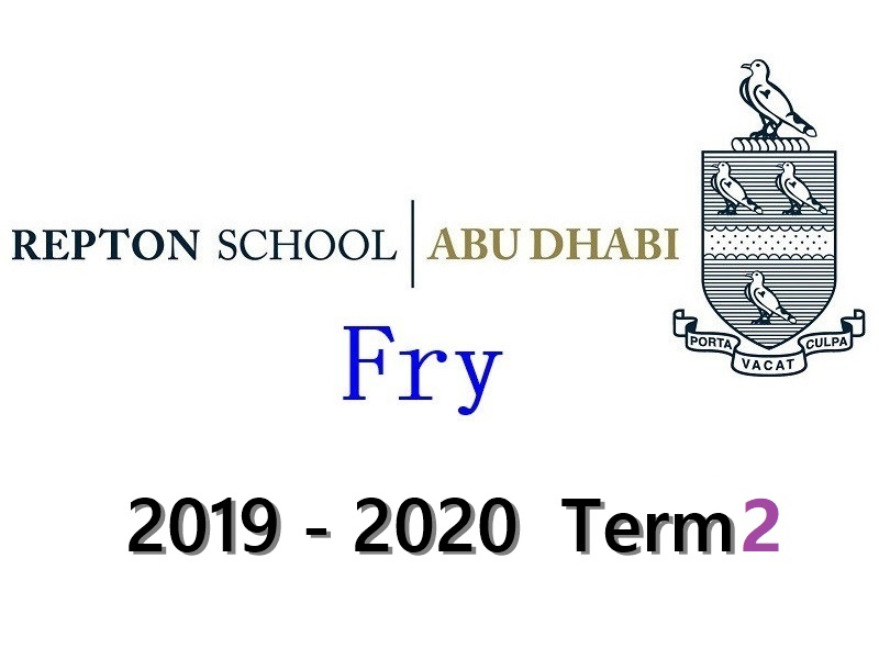 Repton Fry Individual Drums Lesson 2019-2020 Term2