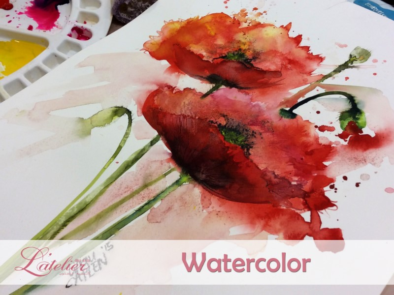 Watercolor Lessons for Adults Monday Class C 19:00-21:00